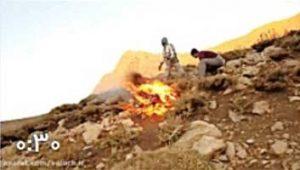 آتش سوزی اتفاقی در کوه رُنج فارس