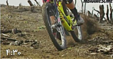 دوچرخه سواری هیجان انگیز در دل کوهها