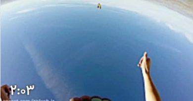ویدئو هیجان انگیز از سنگنوردی در ارتفاع 1100 متری آسمان