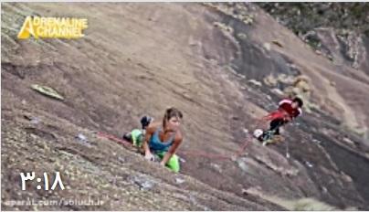 کلیپ فوق العاده از تلاش های بانوی کوهنورد