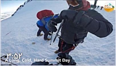 کلیپ هیجانی و شاد از صعود به قله البروس قفقاز