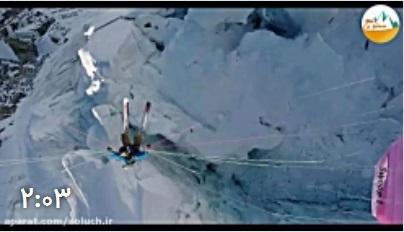 ویدئو هیجان انگیز از اسکی در کوهستان