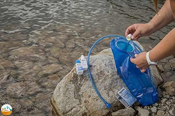ضد عفونی کردن آب آشامیدنی در طبیعت