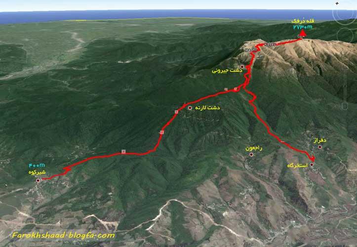 راهنمای صعود به قله درفک گیلان