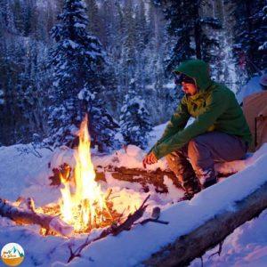 چگونه بر روی برف آتش روشن کنیم؟