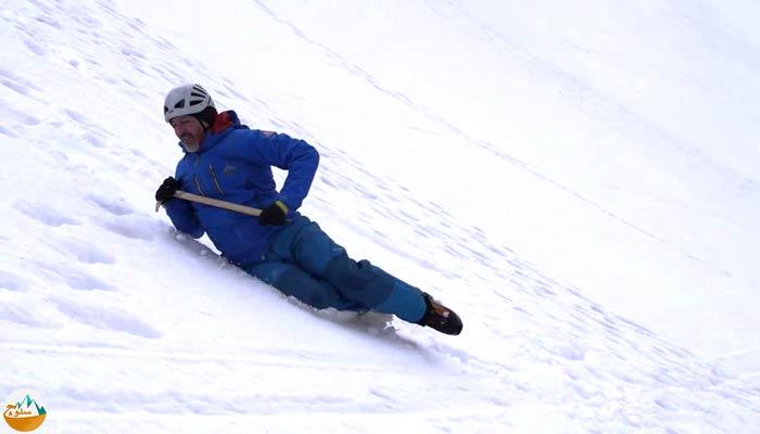 آموزش تکنیک نجات از سقوط روی یخچال