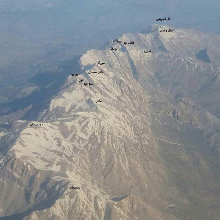 قلل شاخص رشته کوه دنا