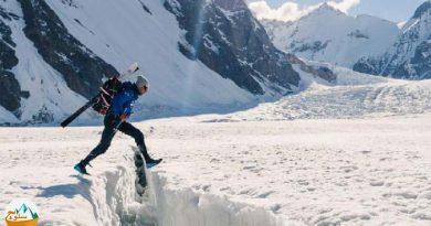 فرود هیجان انگیز از قله k2 با اسکی