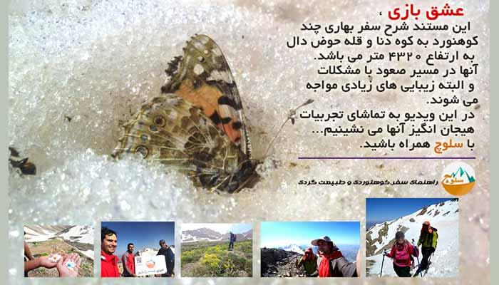 عشق بازی ،مستند دیدنی از صعود بهاری به قله دنا (حوض دال 4320 متر)