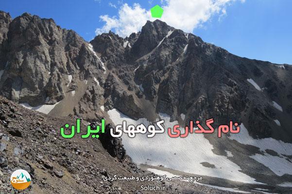 نامگذاری کوههای ایران