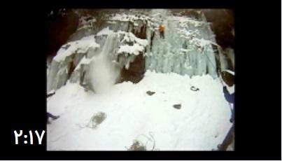 ویدئو دردناک از سقوط کوهنوردان