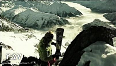 """کلیپ فوق العاده """"بازگشت از قله با اسکی"""""""