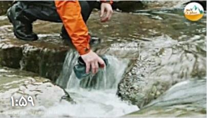 آموزش ضد عفونی کردن آب در طبیعت با قرص پرکلرین