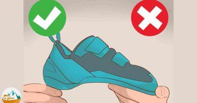 نگهداری و نظافت کفش های سنگنوردی